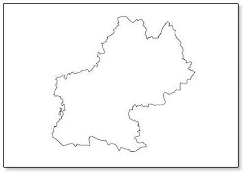 Imán para nevera con diseño de mapa de la región de Francia de MIDI-Pyrenees