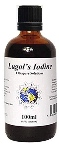 100ml Lugols Iodine 15% - Iodine Drops - Ultrapure Solutions - Dropper Cap
