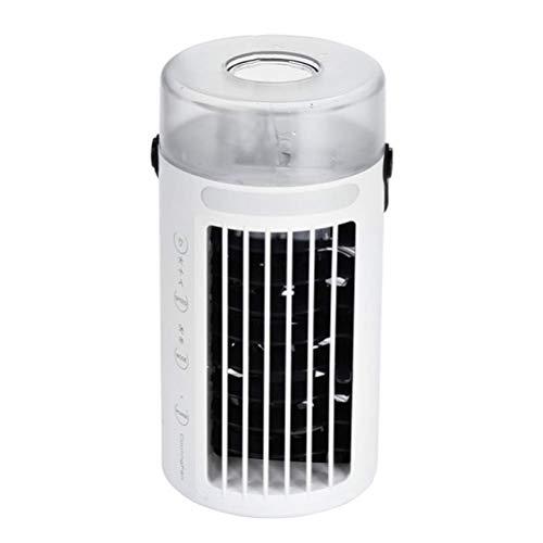 YLLN Aire Acondicionado portátil de humidificación con Luces USB Desktop Mini Ventilador de Aire para hogar silencioso