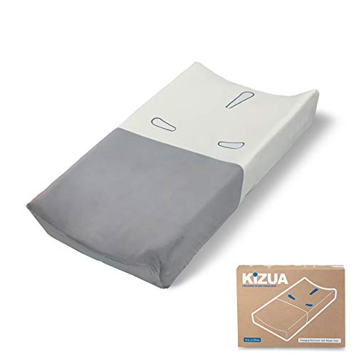 Kizua Changing Pad Cover For Fast, Easy Diaper Changes with Diaper Grip