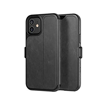 tech21 EvoWallet for Apple iPhone 12 and 12 Pro 6.1 inch 5G - Germ Fighting Antimicrobial Phone Case with 12 ft Drop Protection T21-8381