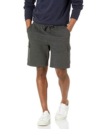 Amazon Essentials Fleece Short Pantaloncini Cargo, Carbone Puntinato, XL