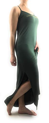Emporio Armani Damen Strandkleid Long Dress Beach (00084 Miltary Green, XS)