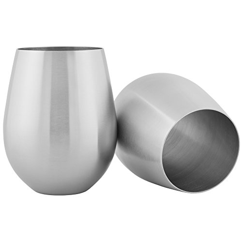 Long Lasting Double Wall Stainless Steel keeps your drink colder for longer than glass or crystal