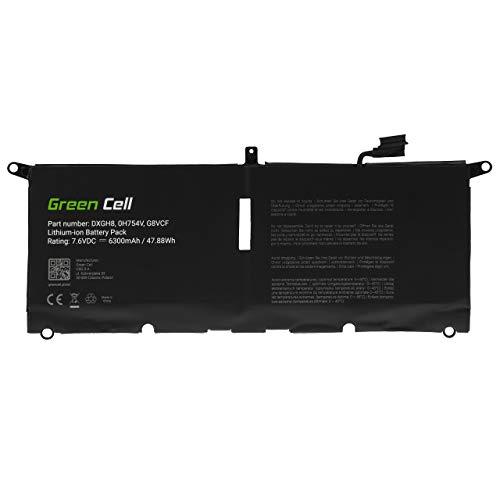 Green Cell Akku für Dell XPS 13 9370 9380 Laptop (6300mAh 7.6V Schwarz)