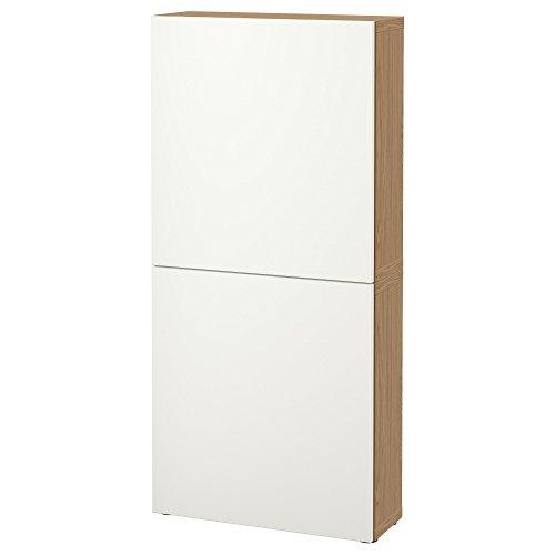 IKEA BESTA - Wandschrank mit 2 Türen Eiche Wirkung/lappviken weiß