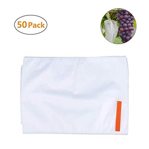 Xiaoqingmiao Lot de 50 sacs de protection pour légumes, fruits, insectes, givre et jardin, pour protéger vos plantes, fruits, fleurs, 30 x 38 cm