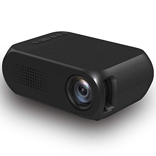 Projector, Home Theater, Mini Projector with Synchronize Smartphone Screen, 1080P HD Portable Projector with 600 Lux And 60' Display,Black
