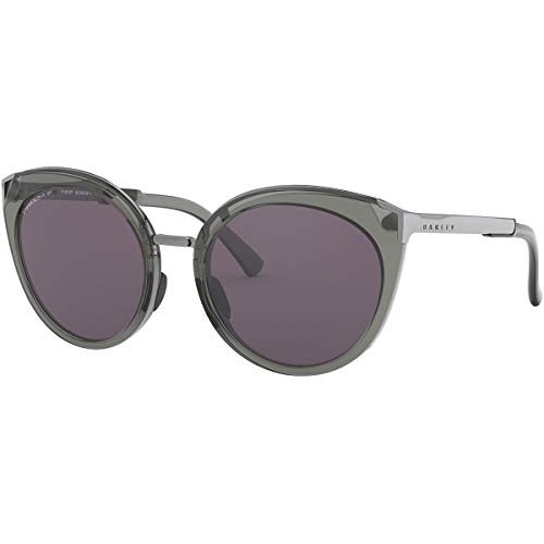 Oakley Women's OO9434 Top Knot Cat Eye Sunglasses, Onyx/Prizm Grey, 56 mm