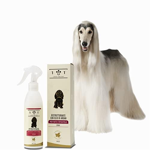 Herstructurering van het haar met natuurlijke arganolie, 250 ml - regenereert droog en kwetsbaar haar - polijsten en ontwarren - geschikt voor alle haartypes - voor honden of katten, Linea 101