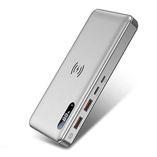 Batería Externa Inalambrica, 30000Mah Power Bank Con 15W Carga Inalambrica & 65W PD QC 3.0 Bidireccional Carga Rápida, 4 Salidas, Tipo C Cargador Portátil Para Iphone Samsung Android Móviles Y Más