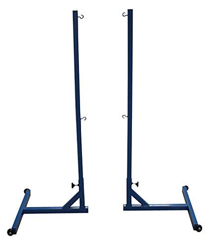 Softee Equipment 0012432 Set bewegende palen met tegengewichten, wit, S