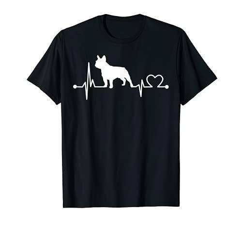 Bulldog francés Heartbeat - Regalo divertido para mascotas para niños y mujeres Camiseta