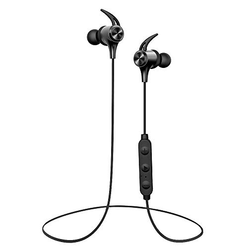 Wireless Headphones, Boltune Bluetooth 5.0 IPX7 Waterproof 16 Hours Playtime Bluetooth Headphones, with Magnetic Connection, Sports Earbuds for Running Built-in Mic (Renewed)