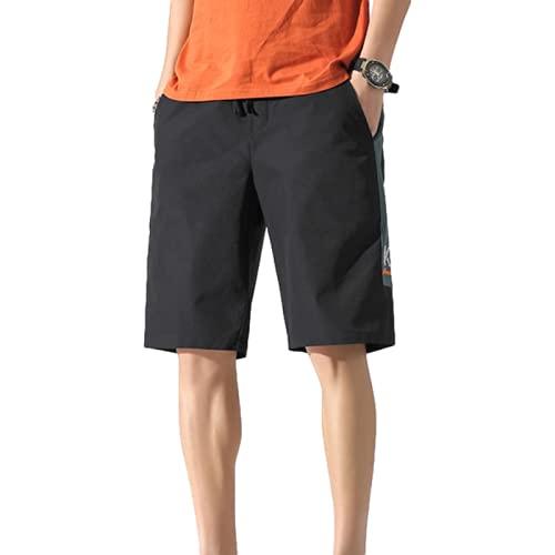Katenyl Pantalones Cortos Estampados a Juego con el Color de los Hombres Tendencia Fina Ropa de Calle de Gran tamaño Fitness Correr Ocio Pantalones Cortos Deportivos para Acampar al Aire Libre L