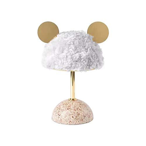 Decoratief Cute Table Lamp, nachtlamp Bureau nachtkastje lampen Metal E27 Bol for Slaapkamer Woonkamer Girls Vrouwen…