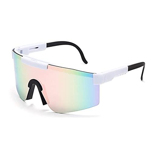 Huabei2 Gafas de Sol, Gafas de Sol de Ciclismo UV400 Polarizadas para Hombres Gafas de Bicicletas (Color : A8)