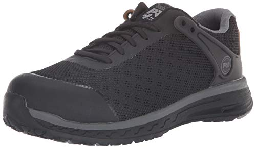 Timberland PRO Women's Drivetrain Low Composite Safety Toe Electrical Hazard Athletic Work Shoe, Black mesh, 9