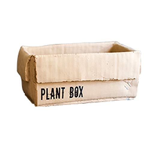 WYH Persoonlijkheid Bloem Pot Cement Kraft Doos Bloem Pot Bloem Mand Creatieve Planten Binnen Balkon Tuin Bloem Doos Glad