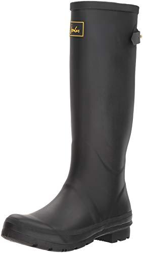 Joules Women's Field Welly Rain Boot, Black, 3 Medium UK (5 US)