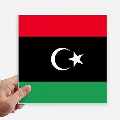 DIYthinker Drapeau National Libya Africa Country Square Autocollants 20CM Mur Valise pour Ordinateur Portable Motobike Decal 4Pcs 20Cm X 20Cm Multicolor