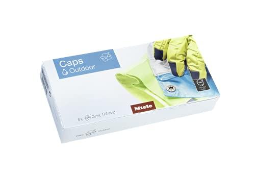 Miele Original Zubehör Caps Outdoor Waschmittel/Spezialwaschmittel für Funktionskleidung/schützt Membranfunktion und Atmungsaktivität/neutralisiert Gerüche / 6 Stück/für Waschmaschinen