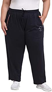 pluss Women's reguler fit Full Length Solid Trackpant
