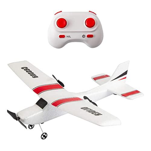 YQTXDS 2.4G 2Ch Avión RC EPP Planeador de Espuma Avión de Equilibrio automático Juguetes al Aire Libre Diviértete Powerfu (Juguetes RC)