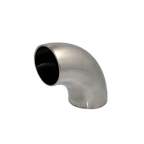 Codo de Soldadura 90 Grados de Acero Inoxidable Encaja Tubería Sanitario SS SUS16 (45mm 1.75