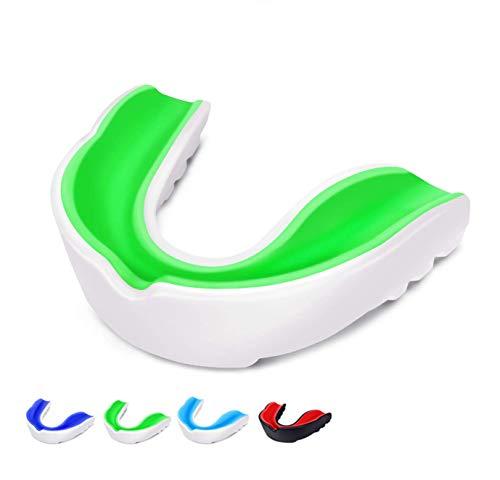 Agaki Profi Sport - Protector bucal– Canales de aire mejorados para una mayor condición física – Comodidad y sujeción segura en deportes de lucha, boxeo, MMA, kickboxing, hockey – para adultos, niños