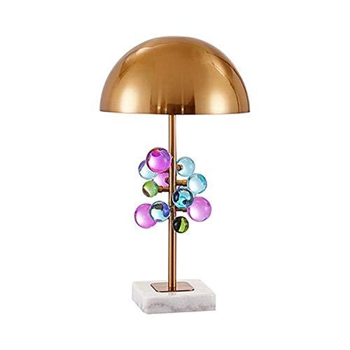 Moderno Colorido Cristal Lámpara Escritorio,Sencillez Decorativa Regalo Caliente Lámpara De Mesa,Pantalla De Metal E27 Salón Dormitorio Oficina-Cristales coloridos 35 * 58cm