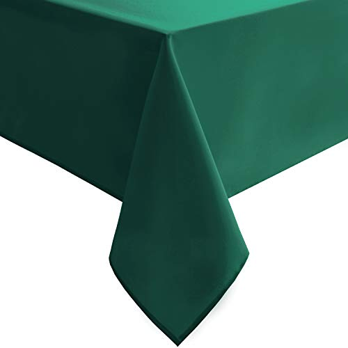 Hiasan Emerlad Green Tablecloth for Rectangle Tables - Waterproof Washable Oblong Table Cloth for Dining Kitchen and Outdoor Use, 54 x 80 Inch