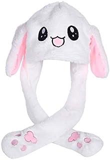 Dressfan Women Girls Funny Plush Rabbit Ear Hat Toy Birthday Gift Plush Hat Funny Toys-Pressing The Bunny Cap Will Make Th...