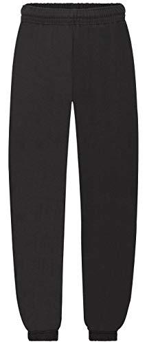 Fruit of the Loom Premium Elasticated Cuff Jog Pants Kids Unisex Kinder Jogging-Hose, Farbe:schwarz, Größe:140