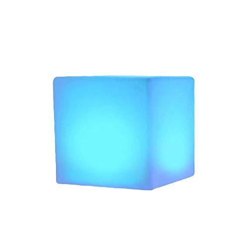 Partido LED Luminoso Taburete Patio Patio Patio Lámpara Nocturna Romántica Mueble Luz Bar Cube Muebles de interior Lámparas al aire libre Luces de noche 16 Color Cambio de la silla Bola Sirva Sirviend