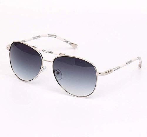 Aviator Zonnebril voor heren, gepolariseerde zonnebril voor vrouwen, UV400-bescherming, metalen frame, spiegelbril voor buitenshuis, kleur: zilver framestuk. Silver Frame Gray Piece