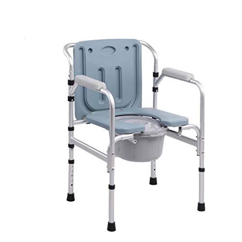 XUEPING Muletas Viejo Hombre Inodoro Asiento Personas Discapacitadas Plegable Móvil Mujeres Embarazadas Asiento Inodoro Seniors Taburete Bastón