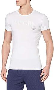 Emporio Armani CC716 111035_00010 Camiseta Interior, Blanco (White), Medium (Tamaño del Fabricante:M) (Pack de 2) para Hombre