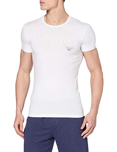 Emporio Armani Underwear 111035cc716 Top Pigiama, Bianco (Bianco 00010), Medium Uomo