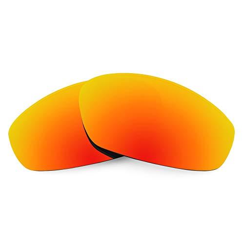 Revant Revant Ersatzgläser für Oakley Whisker - Kompatibel mit für Oakley Whisker, Polarisiert, Feuerrot MirrorShield