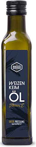 Weizenkeimöl 250ml   100% naturrein   1. Kaltpressung   enthält Vitamin E und Spermidin   native...