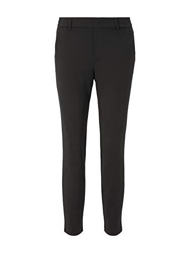 TOM TAILOR Denim Damskie spodnie materiałowe Basic, 14482 – Deep Black, XXL