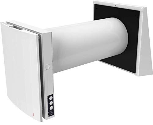 Blauberg: Vento Expert A50-1 PRO - dezentrales Lüftungsgerät mit Wärmerückgewinnung (>93%), leiser Betrieb (ab 11dBA), Endmontageset inkl. Fernbedienung, Steuerung, Rohrhülse und Außenwandhaube
