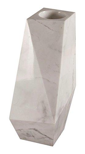 Yuchengstone Grand vase cubique moderne en marbre blanc, très massif, carré en pierre naturelle, dimensions L/l : 52/30 cm, poids : env. 42 kg.