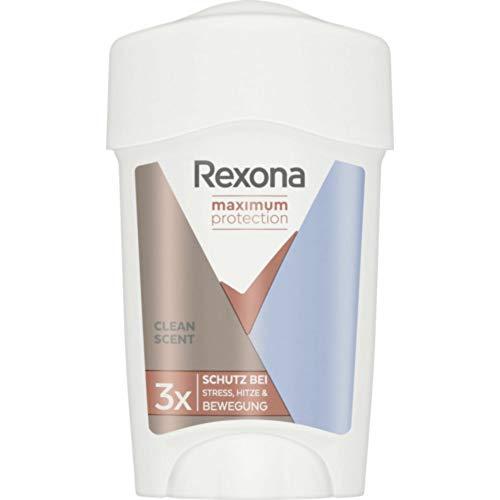 Rexona Frauen Maximaler Schutz Sauberer Duft 45 ml - Desodorantien (Antitranspirant, Deodorantriegel), 3er-Pack