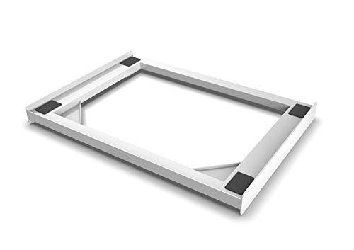 Meliconi Base Torre Slim Kit di Sovrapposizione in tecnopolimero per lavatrice e asciugatrice SLIM, Bianco
