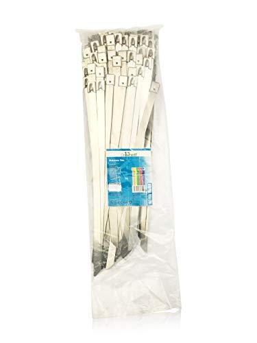On1Shelf Kabelbinder, Edelstahl, hochwertig, Marineblau, 100 Stück, silber
