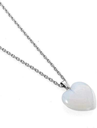 NC520 Collares Pendientes de Cristal con Forma de corazón de Piedra Natural, Collar de Cadena Larga de Fiesta de Regalo, joyería