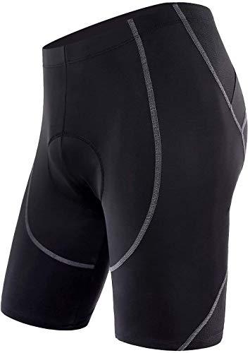 FashSam Sports Men's Cycling Underwear 4D Padded Breathable Bike Undershort Shorts Anti-Slip Design (L) Black