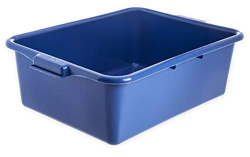 "Carlisle N4401114 Comfort Curve Bus Box/Tote Box, 7"" High, Blue - 1 Each"